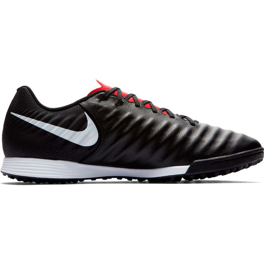 Nike-Scarpe-Calcio-Calcetto-Tiempo-LegendX-7-Academy-Nero-rosso-Turf miniatura 8