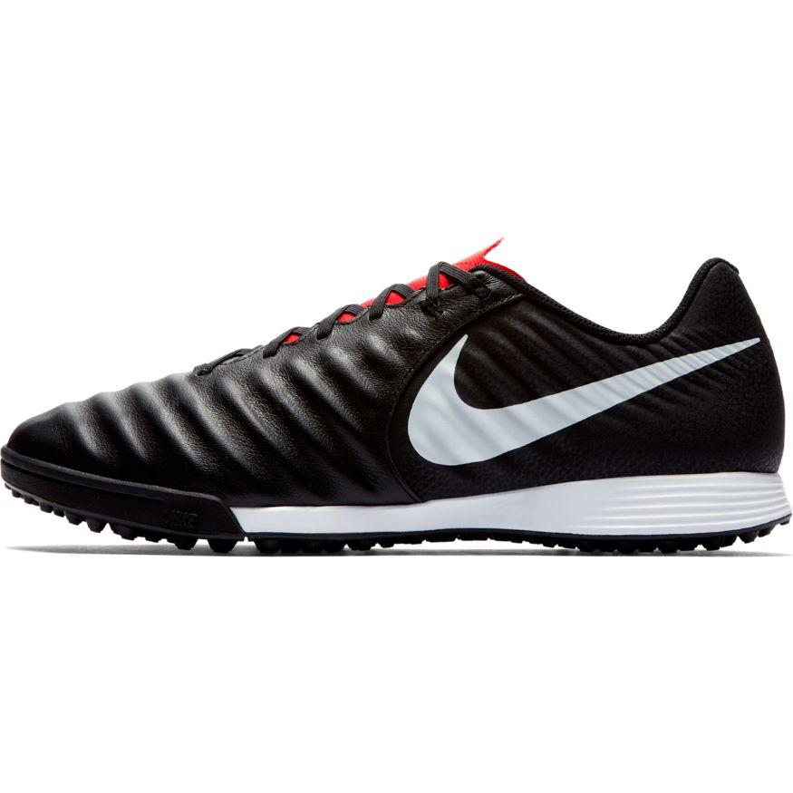 Nike-Scarpe-Calcio-Calcetto-Tiempo-LegendX-7-Academy-Nero-rosso-Turf miniatura 4