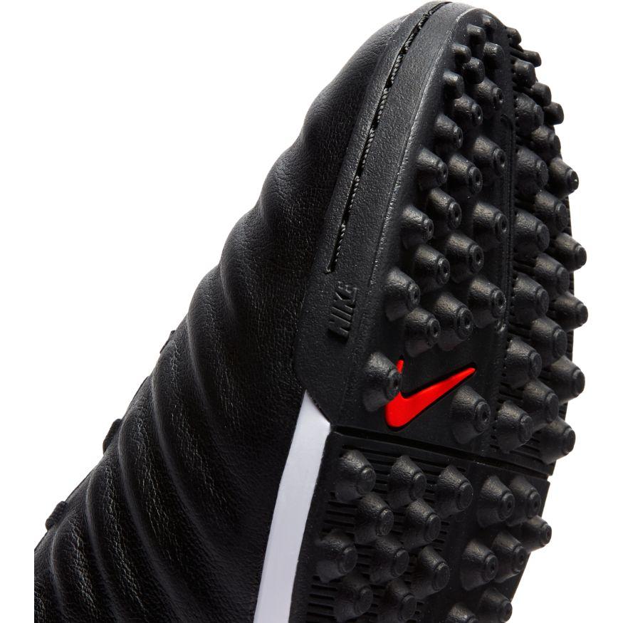 Nike-Scarpe-Calcio-Calcetto-Tiempo-LegendX-7-Academy-Nero-rosso-Turf miniatura 3