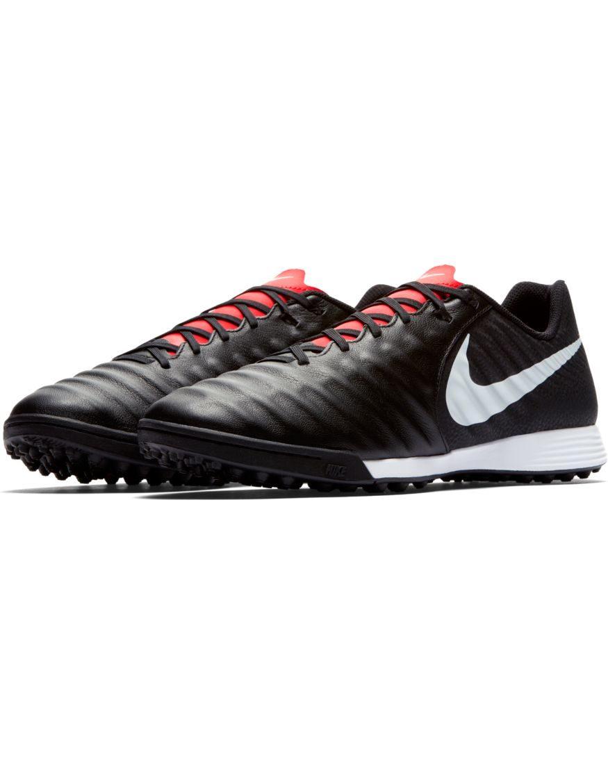 Nike-Scarpe-Calcio-Calcetto-Tiempo-LegendX-7-Academy-Nero-rosso-Turf miniatura 6
