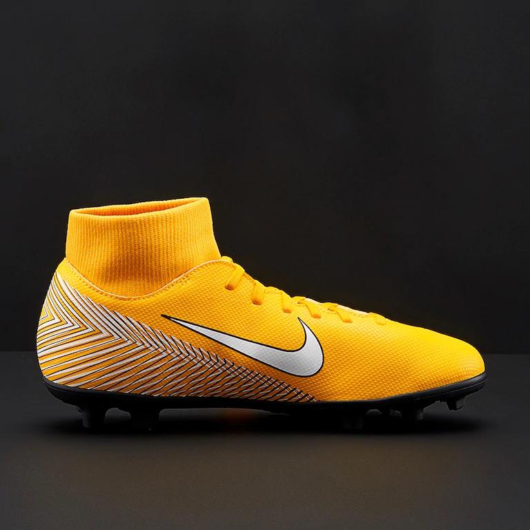 Nike Scarpe Calcio Mercurial Neymar Superfly 6 Club MG arancione con calzino  3 3 di 9 ... d671dfe1664