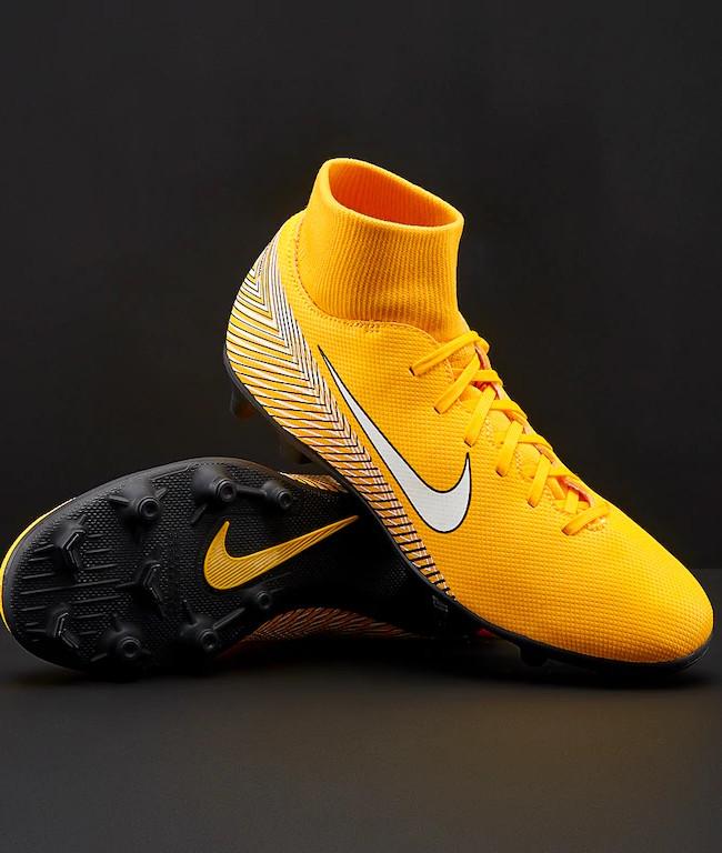 Dettagli su Nike Scarpe Calcio Mercurial Neymar Superfly 6 Club MG arancione con calzino