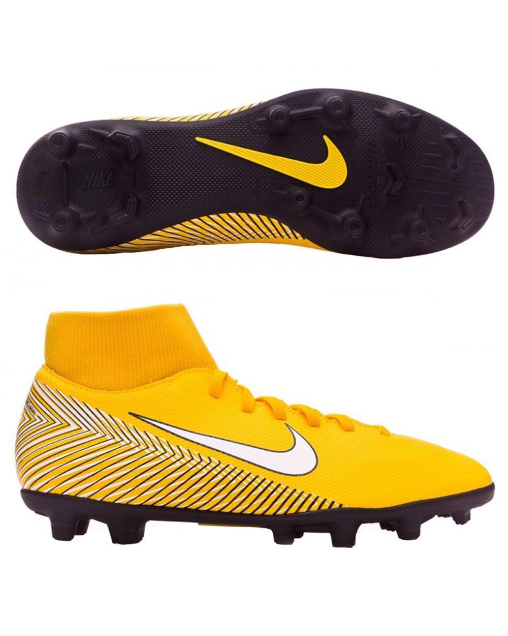 Nike Scarpe Calcio Mercurial Neymar Superfly 6 Club MG arancione con calzino  4 4 di 9 ... f33cf22d86a