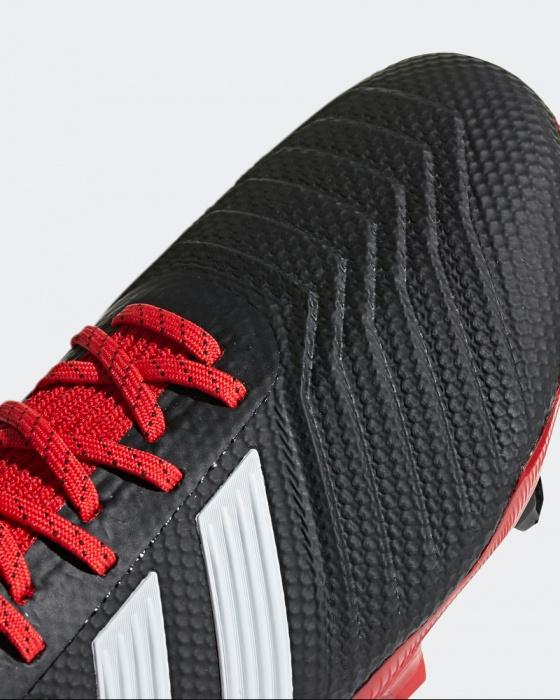 Botas de fútbol con tacos de zapatos adidas Predator FG Rojo Negro chico eBay