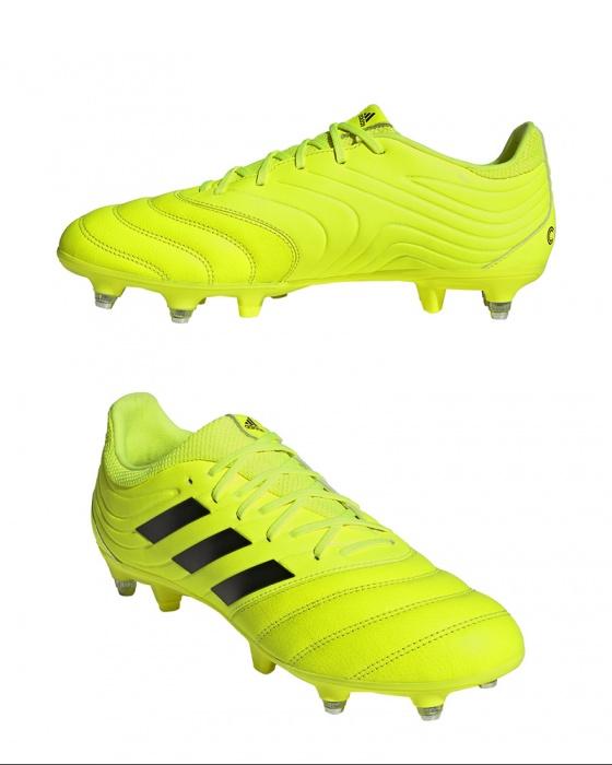 Dettagli su Adidas Scarpe Calcio Chiodate Copa 19.3 SG Giallo Uomo Vera Pelle