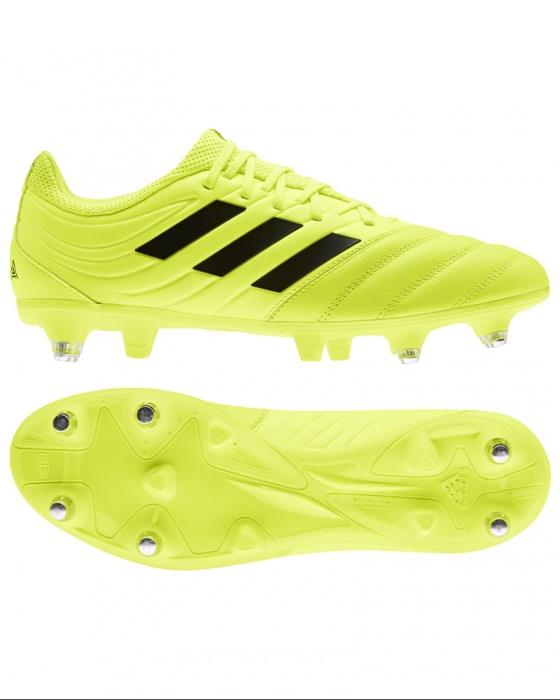 Detalles de Adidas Zapatos Fútbol Clavado Copa 19.3 Sg Amarillo Hombre de Cuero Auténtico