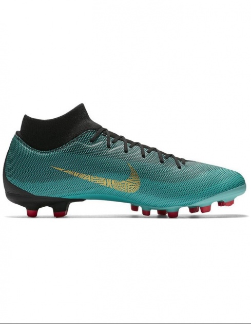 ... Nike Soccer Shoes Superfly CR7 6 MG Green sock with 2018 Man-Academy  Football boots ...