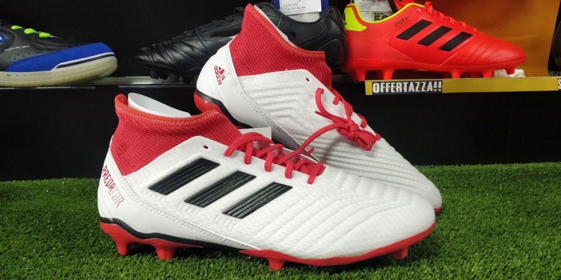 brand new 7f989 b7aac ... Scarpe da Calcio PREDATOR 18.3 FG Adidas con calzino bianco uomo -  Football boots Shoes PREDATOR ...