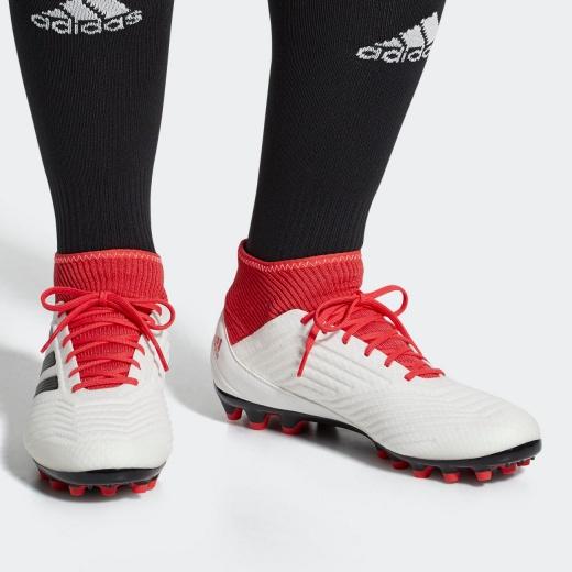 931d820fa12 ... Scarpe da Calcio PREDATOR 18.3 AG Adidas Primemesh Uomo 2018 bianco con  calzino - Football Boots ...