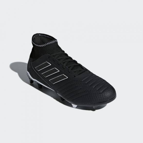 ... Scarpe da Calcio PREDATOR 18.3 FG Adidas con calzino Nero uomo SHADOW MODE - Football boots ...