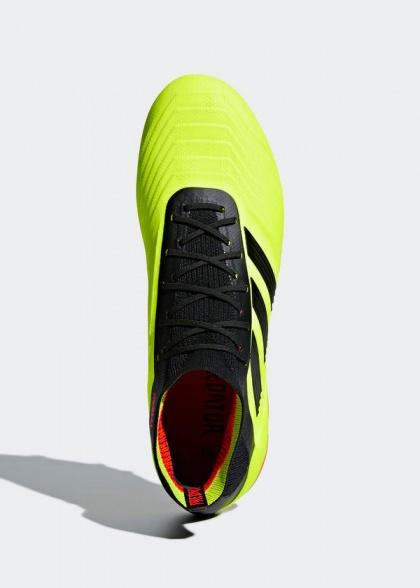 watch ab77e 982f5 ... Scarpe Calcio Adidas Predator 18.1 Primeknit FG Uomo Nero Top di gamma  con calzino ENERGY MODE ...