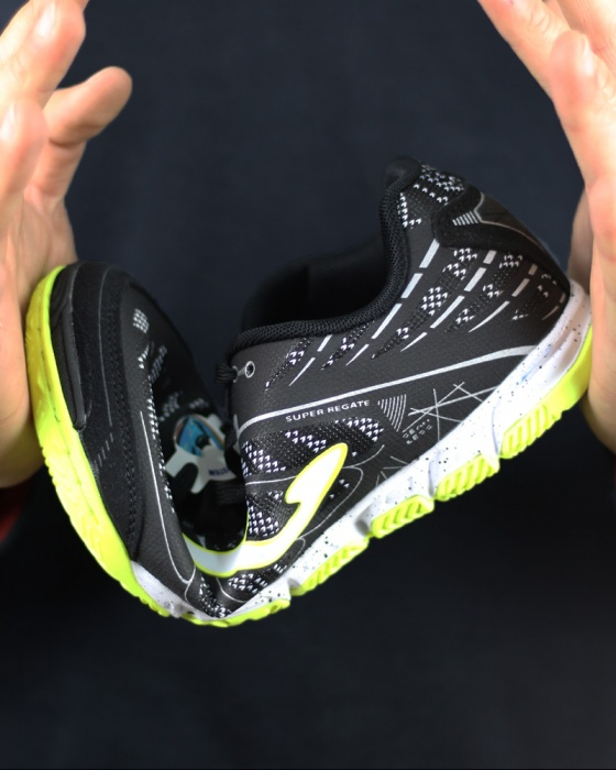 a174da3d0a2be8 ... scarpe calcetto joma SUPER REGATE 801 INDOOR Futsal Nero Originale Uomo  2018 - Football boots shoes ...