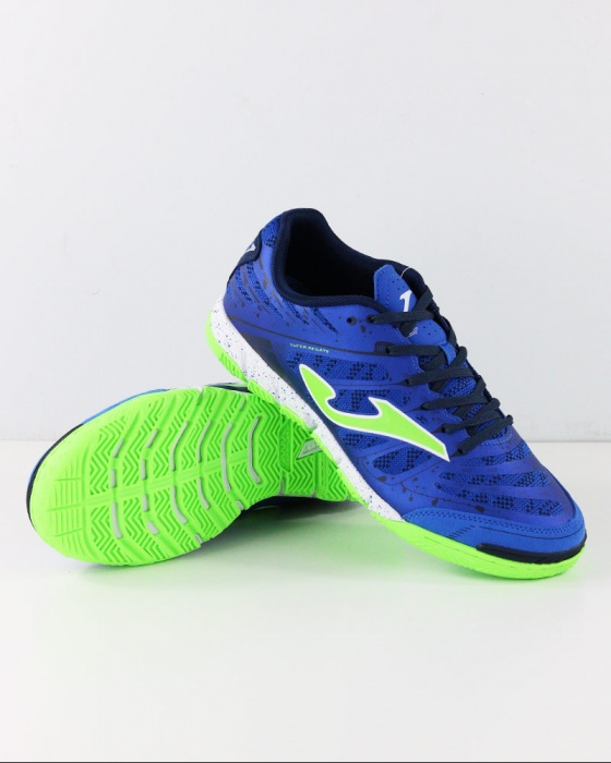 Dettagli su Joma Scarpe Calcio Futsal Super Regate Uomo Azzurro Indoor 904