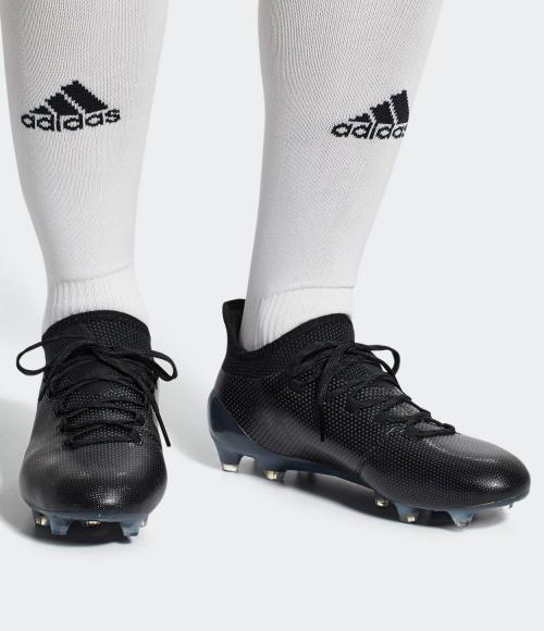 ... Scarpe da calcio X 17.1 FG Adidas Top di gamma 2018 Nero Uomo -  Football Boots ... 382f86a35fc