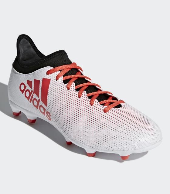 ... Scarpe da Calcio Adidas X 17.3 FG con calzino Uomo 2018 Bianco con calzino techfit ...