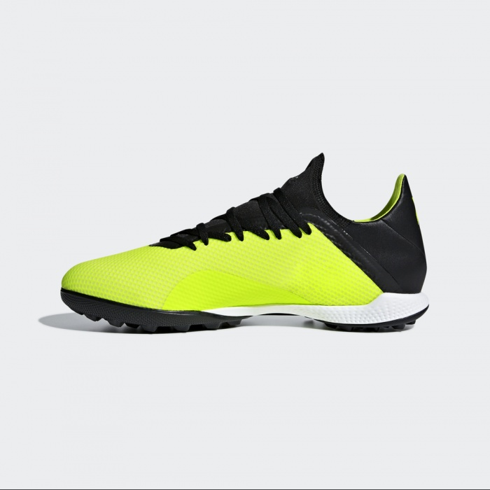 watch bbd08 6dc74 Details about Football boots shoes Adidas Cleats X Yellow Turf Trainers  with techfit sock