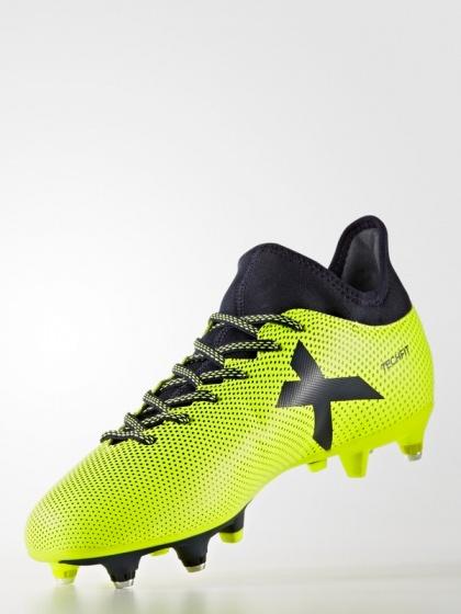 Scarpe da Calcio Adidas X 17.3 Soft GrounD Chiodate con calzino Uomo 2017  18 Giallo Originale ...