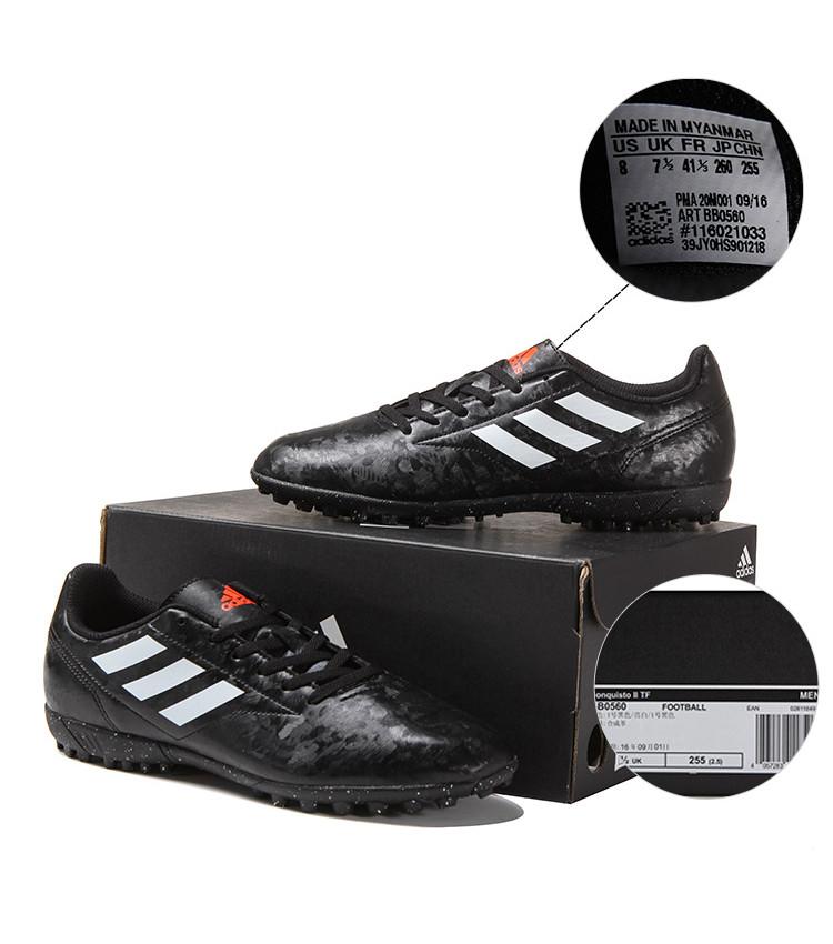 buy online 2bd8e 69ae5 Football shoes Adidas Scarpe Calcio Conquisto II Nero Calcetto Turf Trainers  7 7 sur 8 ...