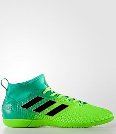 ... Scarpe Calcetto ACE 17.3 Primemesh Indoor Adidas con calzino Originale  Uomo 2017 Verde - Football boots ...