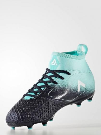 ... Scarpe da Calcio Adidas ACE 17.3 Primemesh FG Ragazzo bambino 2017 18  Verde Nero coon calzino ...