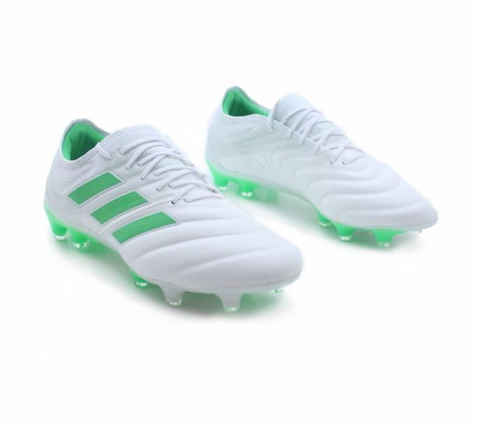 Dettagli su Adidas Scarpe Calcio Football Copa 19.1 FG Top di Gamma Bianco Vera Pelle