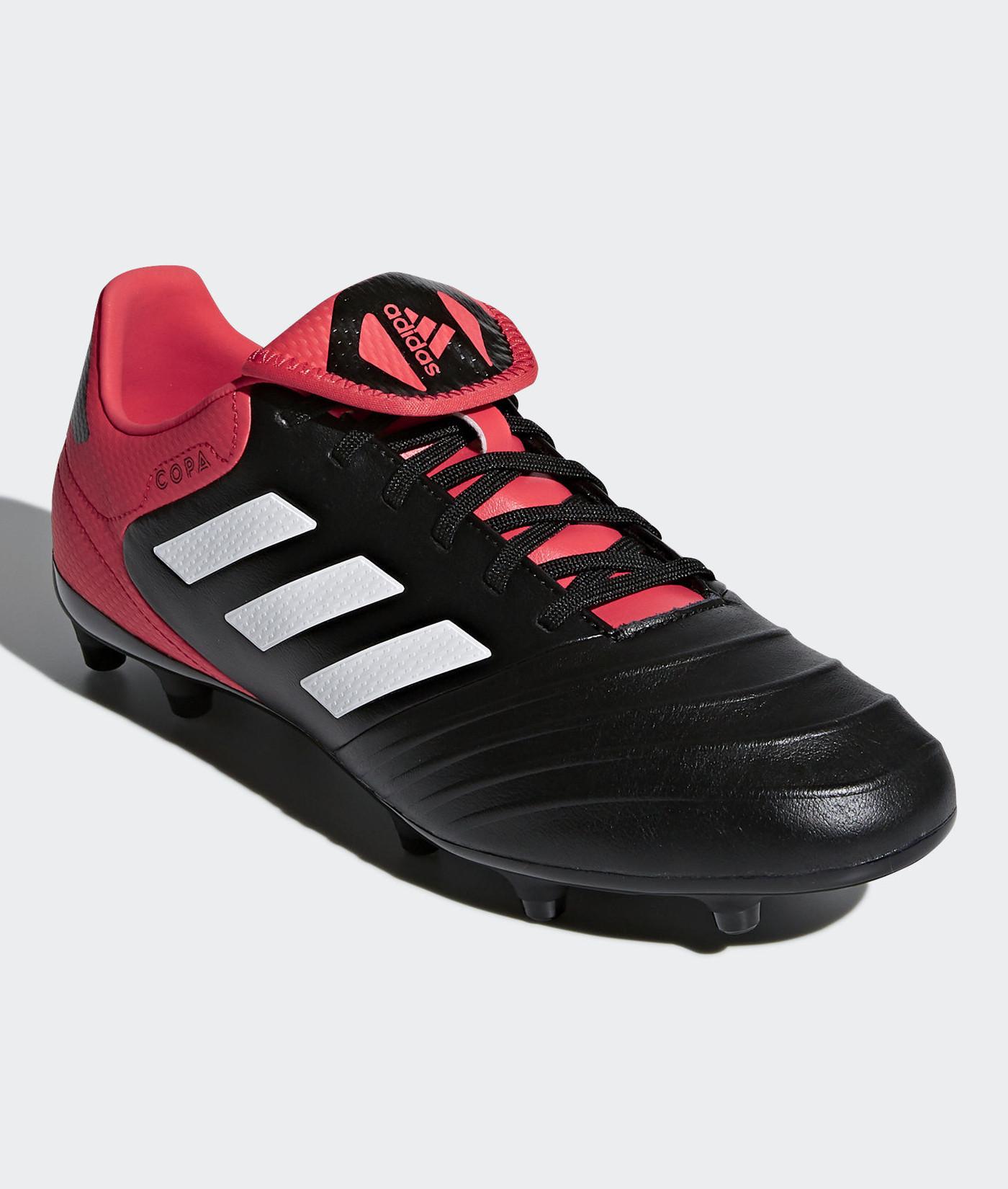 Adidas Scarpe Calcio Football Copa 18.3 FG Mundial Nero Vera Pelle 5ecd34d1eb6