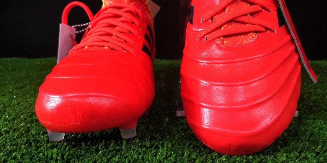 separation shoes d6c0c 5d6b1 Scarpe calcio Adidas Copa 18.1 FG Top di gamma Rosso ENERGY MODE pelle di  canguro Mondiali ...