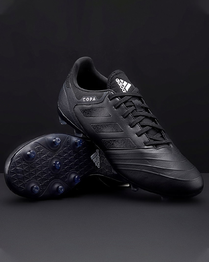 Football boots shoes Adidas Cleats Copa 18.2 FG Total Black Real ... 1126c2882fe