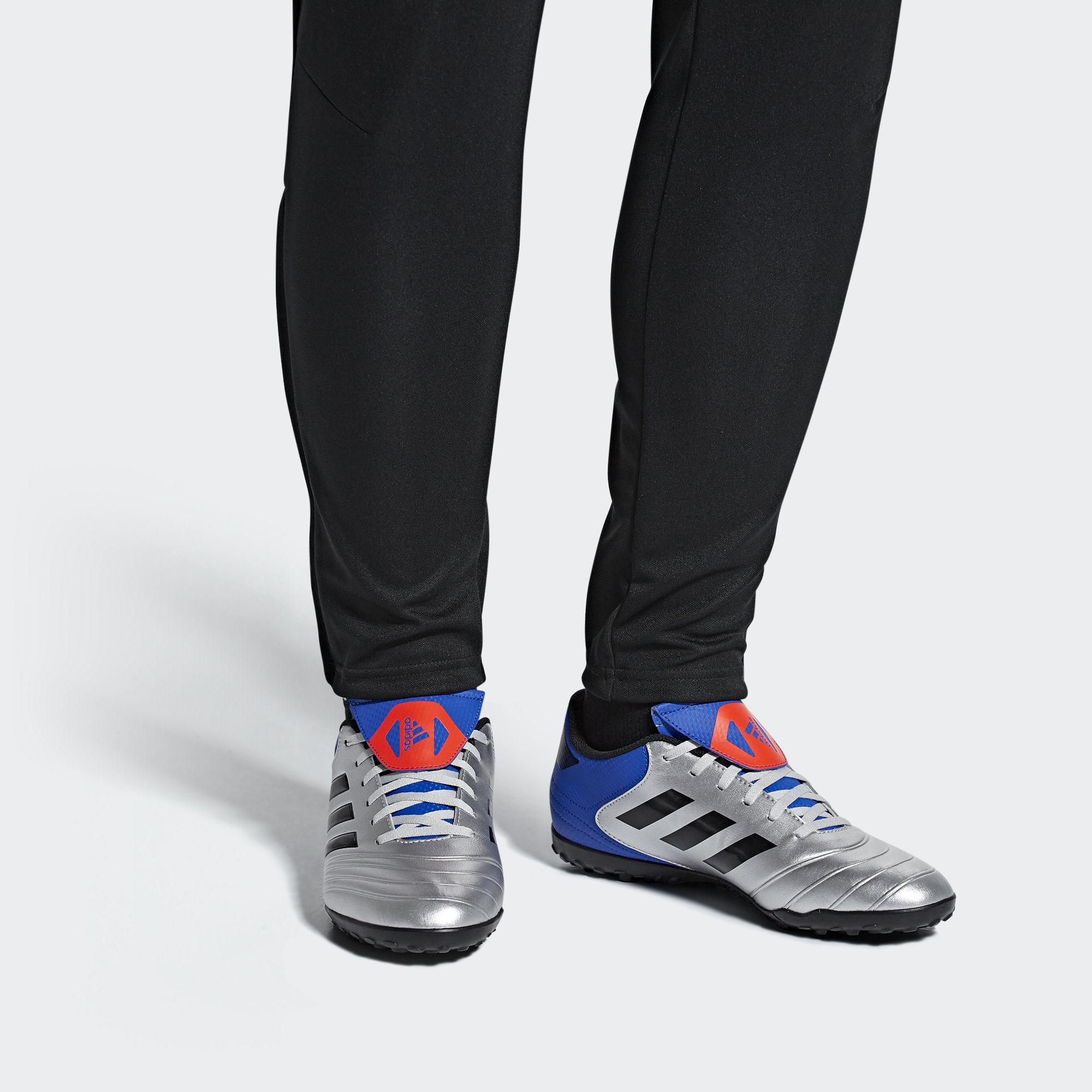 Football-shoes-Adidas-Scarpe-Calcio-Copa-Tango-18-4-Silver-Calcetto-Turf-2018 miniatura 5