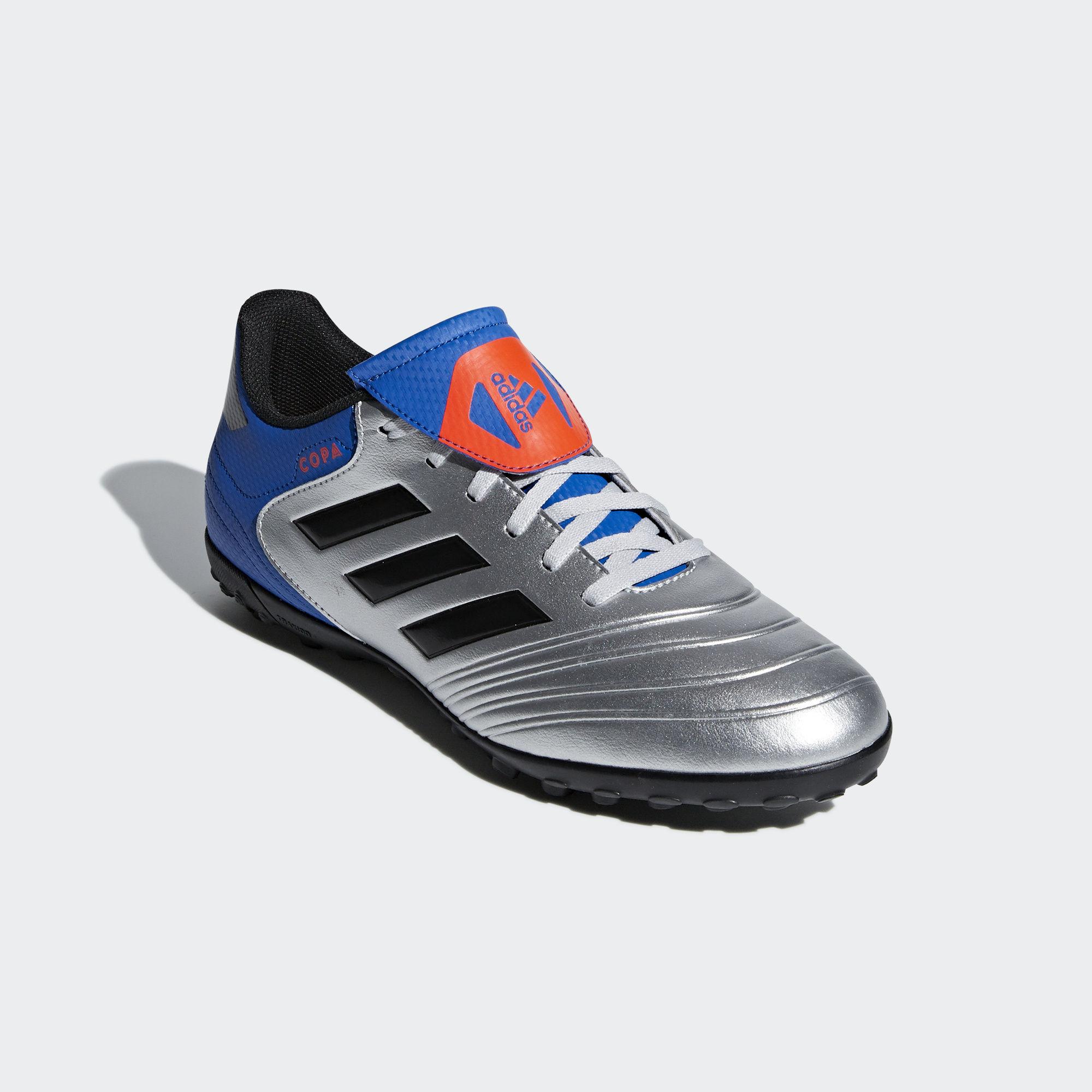 Football-shoes-Adidas-Scarpe-Calcio-Copa-Tango-18-4-Silver-Calcetto-Turf-2018 miniatura 8
