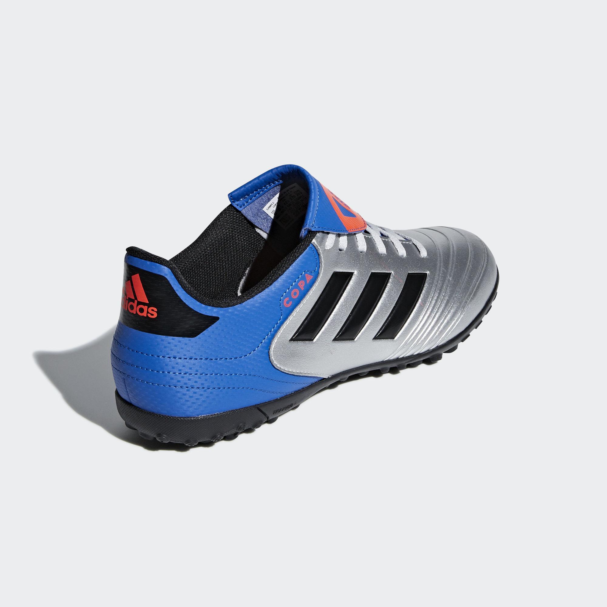 Football-shoes-Adidas-Scarpe-Calcio-Copa-Tango-18-4-Silver-Calcetto-Turf-2018 miniatura 4