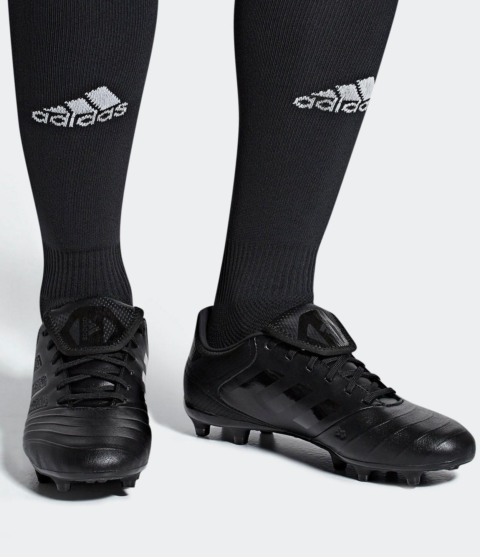 Football boots shoes Adidas Cleats Copa 18.3 FG Total Black Real ... bee7e65e174