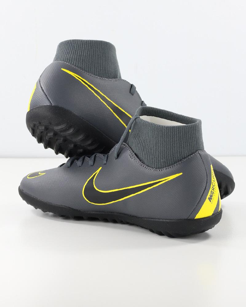 Nike Scarpe Calcio Mercurial Grigio Calcetto Turf SuperflyX 6 Club con  calzino 6 6 di 12 ... 7e3934d4a46