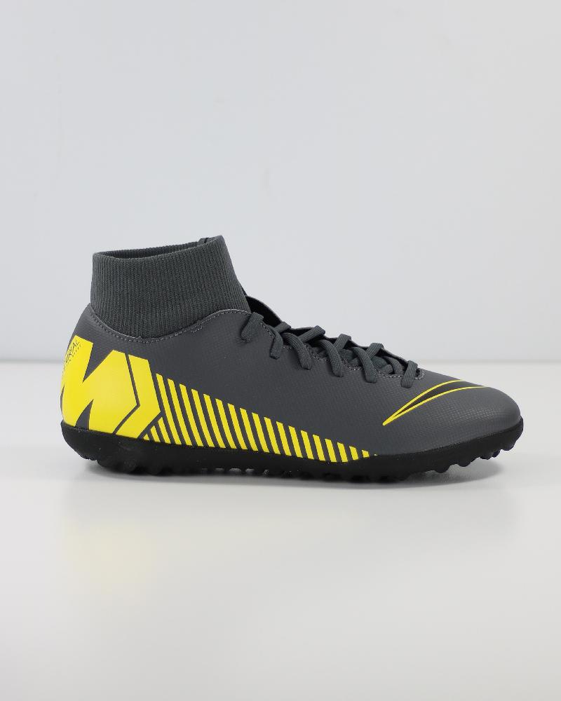 Nike Scarpe Calcio Mercurial Grigio Calcetto Turf SuperflyX 6 Club con  calzino 9 9 di 12 ... ec5d7ffc11d