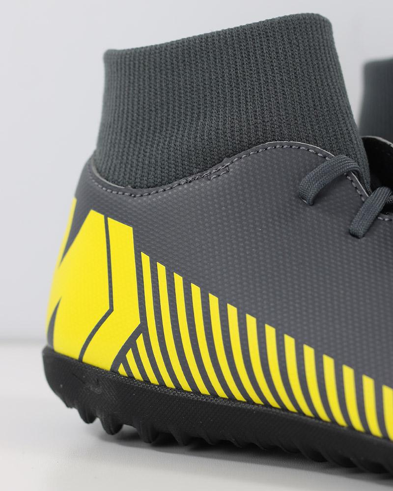 39271ad3be Nike Scarpe Calcio Mercurial Grigio Calcetto Turf SuperflyX 6 Club con  calzino 11 11 di 12 ...