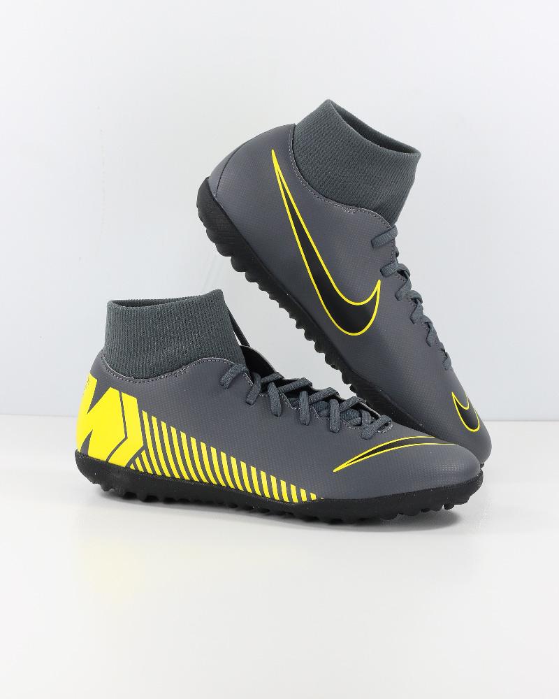 Nike Scarpe Calcio Mercurial Grigio Calcetto Turf SuperflyX 6 Club con  calzino 4 4 di 12 ... a00609c6648