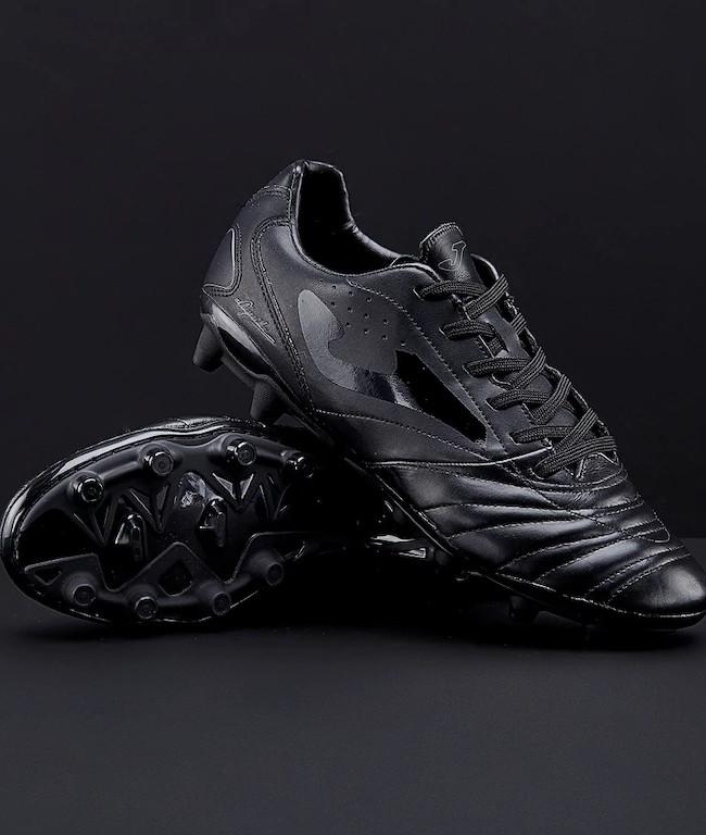 Dettagli su Scarpe da Calcio Joma Aguila 821 Firm Ground 14 tacchetti, Fibertec total Black