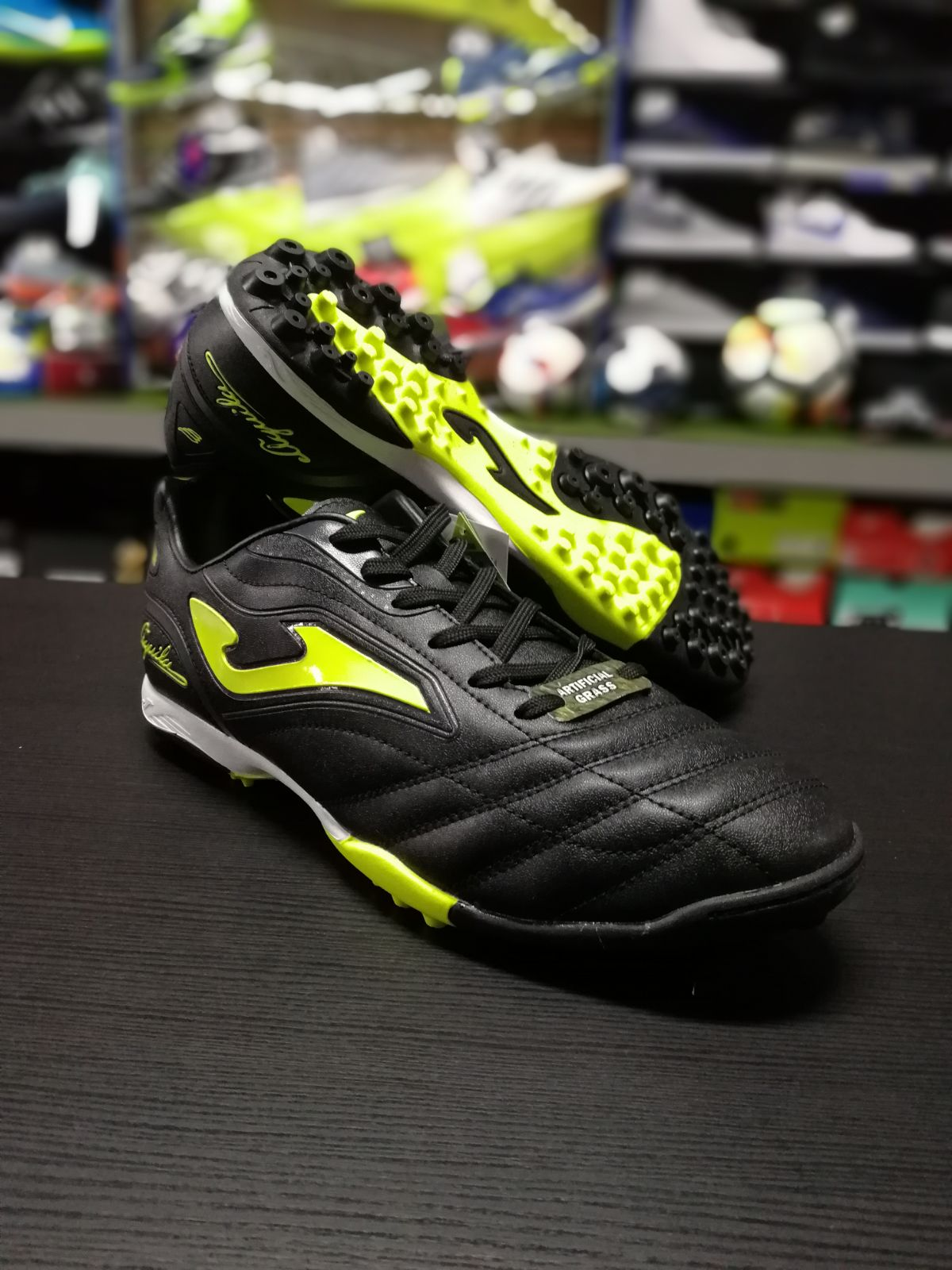 fc6966dba74 Football shoes Joma Scarpe da Calcio Aguila Nero Giallo Calcetto ...