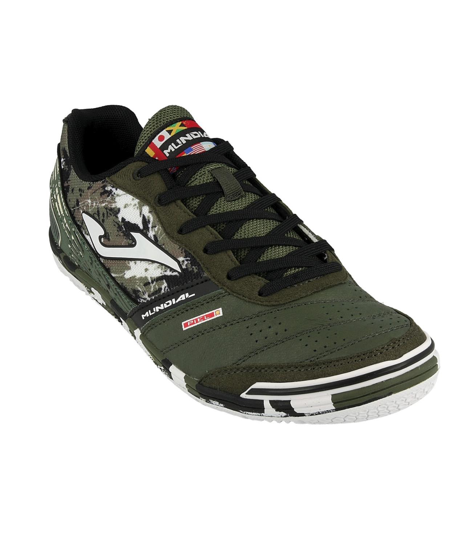 Football-shoes-Joma-Scarpe-Calcio-Mundial-Verde-Indoor-IC-Sala-Futsal-parquet miniatura 8