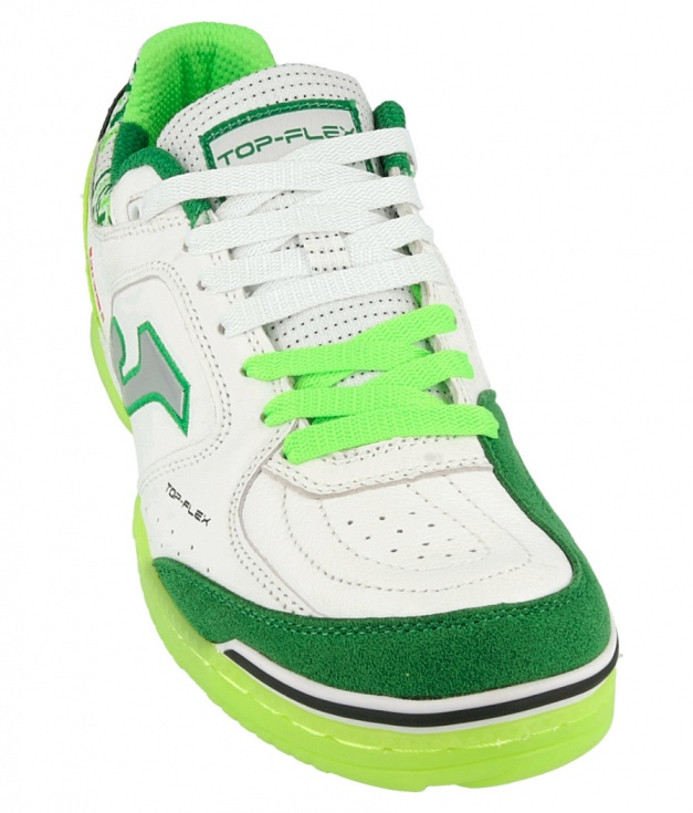 436aff465 ... Joma Top Flex Indoor Soccer Shoes 815 green-white man leather Football  Boots shoes Joma ...