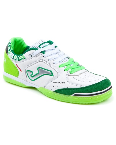 outlet store 3c4e7 f7059 ... Joma Top Flex Indoor Soccer Shoes 815 green-white man leather Football  Boots shoes Joma ...