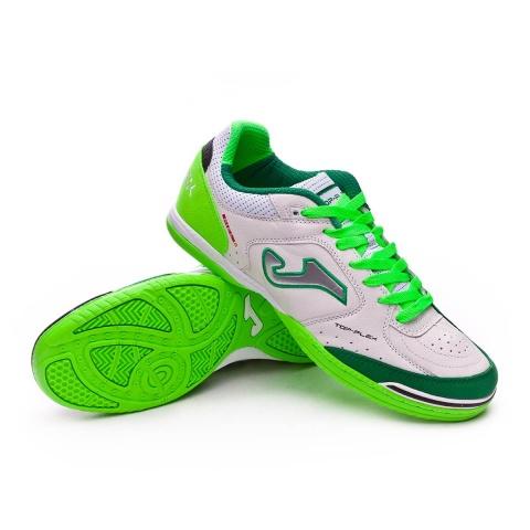 ... Scarpe da calcetto Joma Top Flex 815 Indoor Vera pelle uomo bianco  verde - Football Boots e9ab6769fb82e