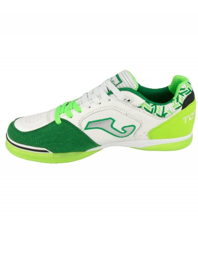 1e878d2dca ... Scarpe da calcetto Joma Top Flex 815 Indoor Vera pelle uomo bianco verde  - Football Boots ...