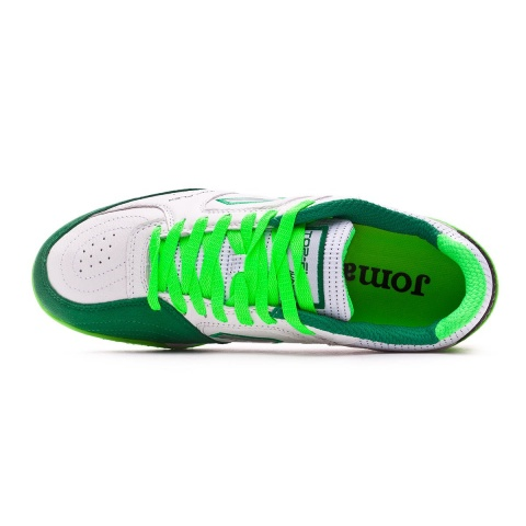 official photos b4655 dd2c2 ... Joma Top Flex indoor soccer shoes 815 Turf Top range original green  white man leather real ...