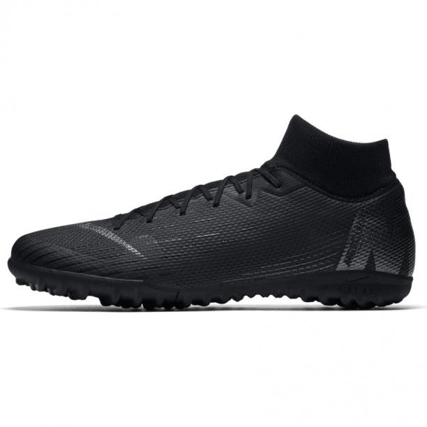 online store 23465 d8ba6 Scarpe calcetto Nike Mercurial SuperflyX 6 Academy Turf con calzino Uomo  2018 Total Nero Originale ...