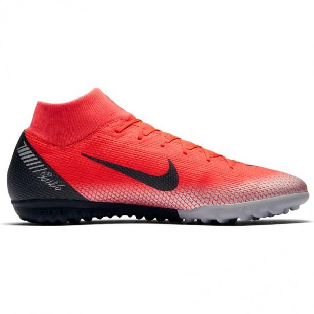 pretty nice 45701 0a54b Scarpe calcio Nike Mercurial Superfly 6 Academy CR7 Turf Trainers con  calzino Uomo 2018 Rosso ...