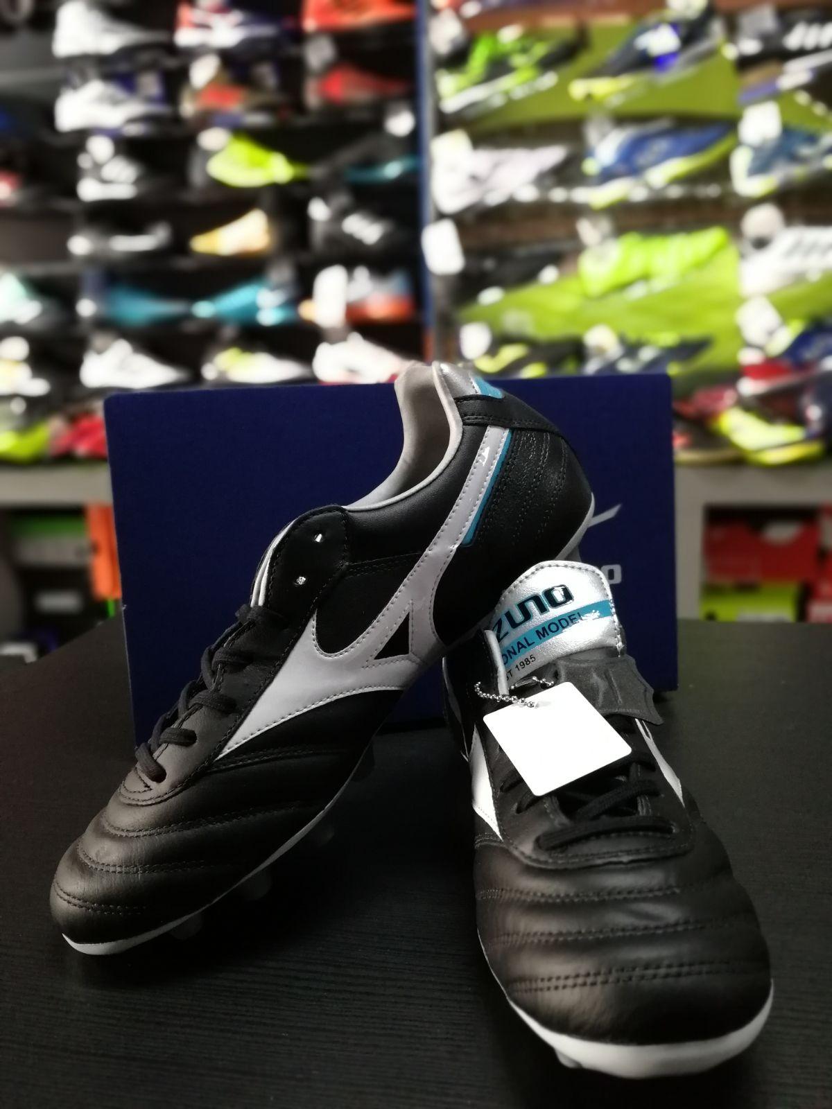 Football-shoes-Mizuno-Scarpe-Calcio-Morelia-II-MD-FG-Nero-2018-Pelle-di-cangur miniatura 9