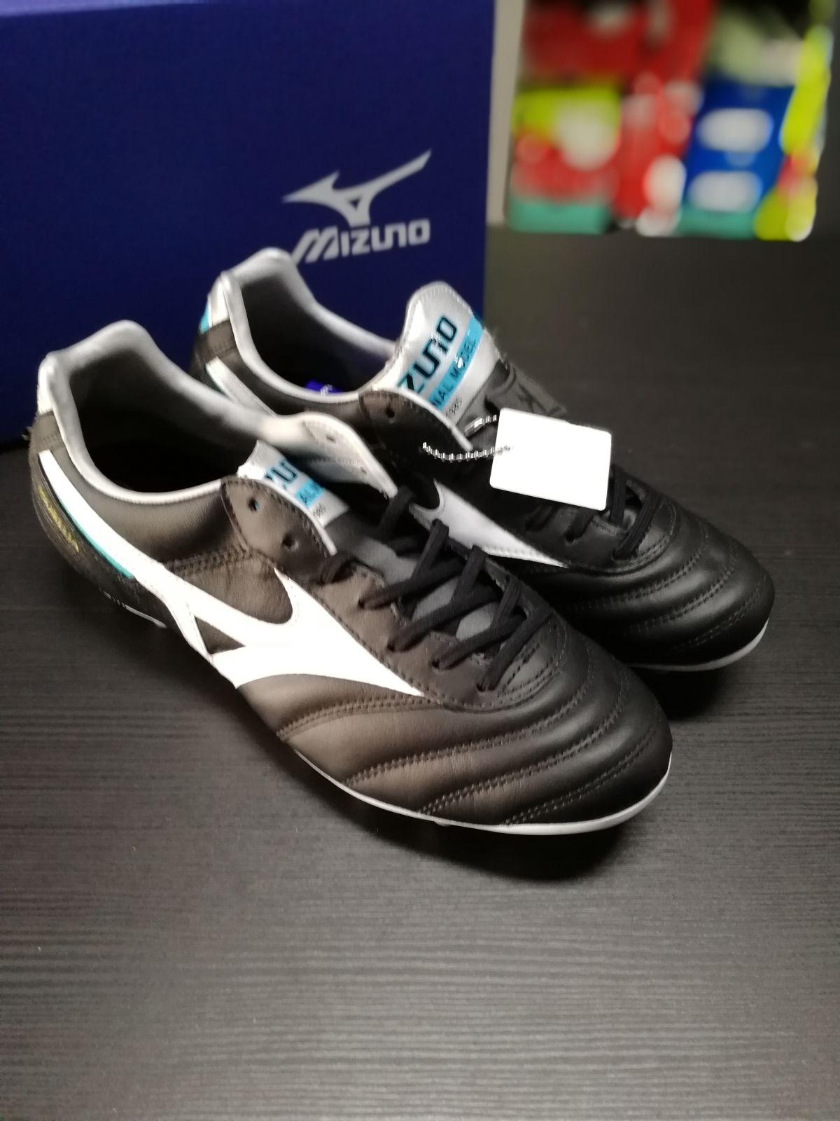 Football-shoes-Mizuno-Scarpe-Calcio-Morelia-II-MD-FG-Nero-2018-Pelle-di-cangur miniatura 6