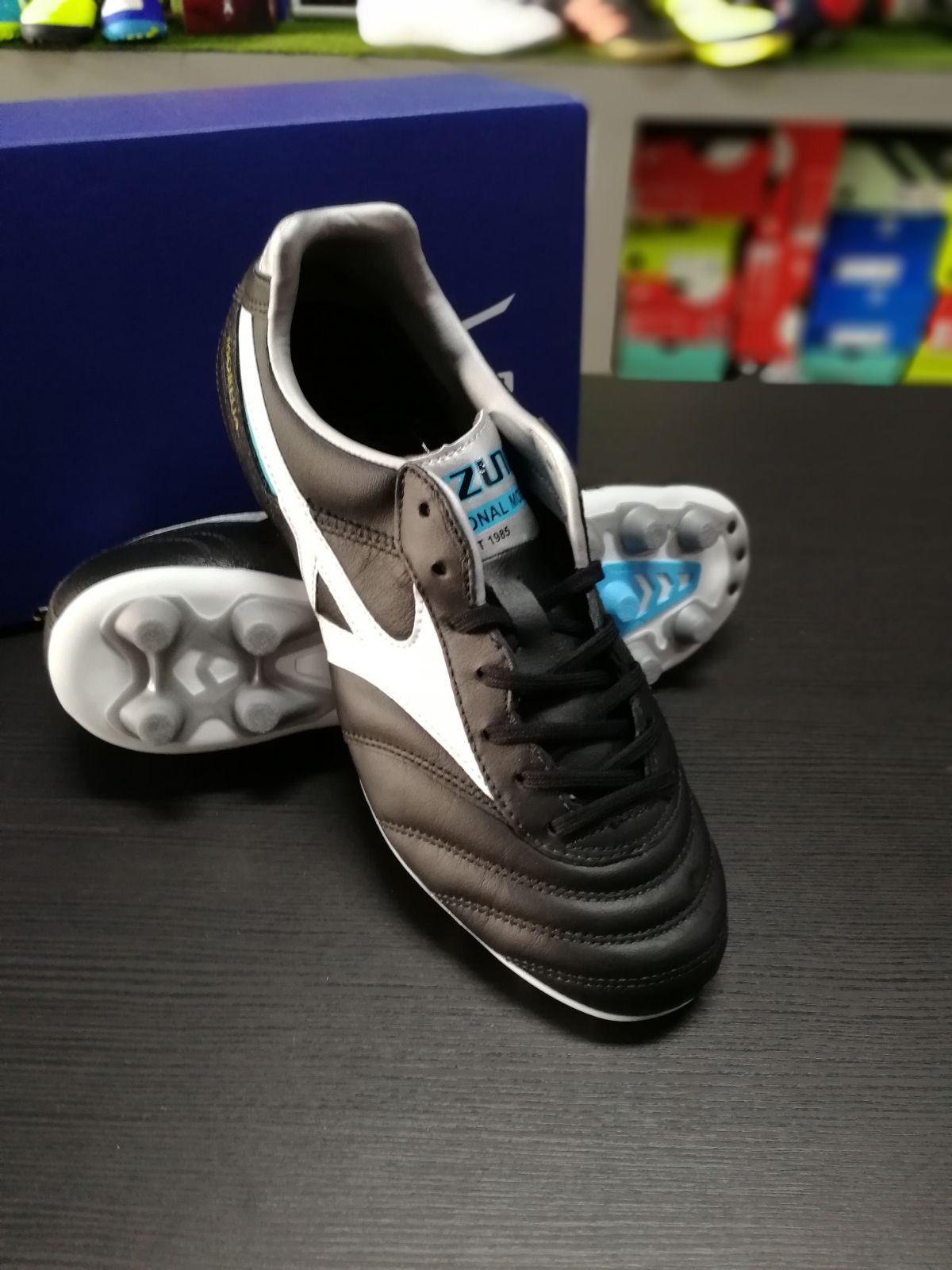 Football-shoes-Mizuno-Scarpe-Calcio-Morelia-II-MD-FG-Nero-2018-Pelle-di-cangur miniatura 5