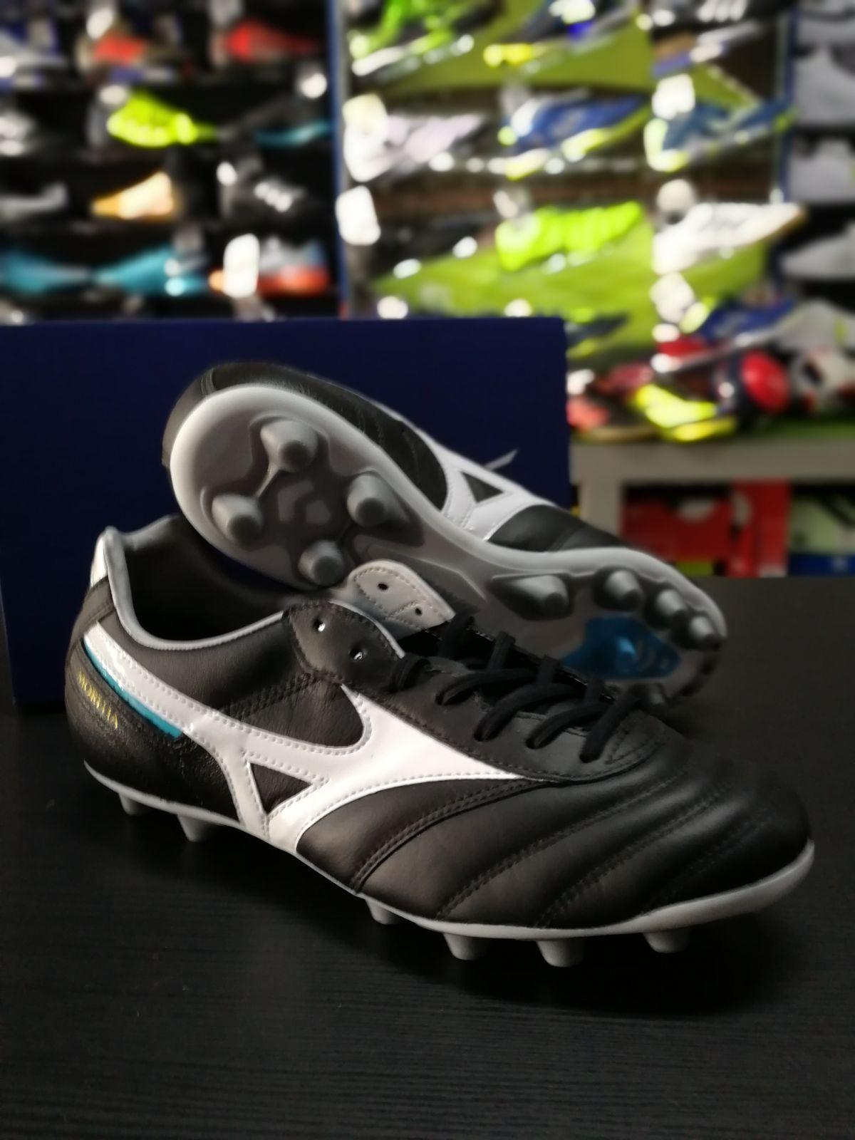 Football-shoes-Mizuno-Scarpe-Calcio-Morelia-II-MD-FG-Nero-2018-Pelle-di-cangur miniatura 3